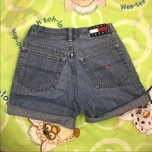 5c6871597 Tommy Hilfiger Shorts | Vtg Embroidered Denim Y2k | Poshmark